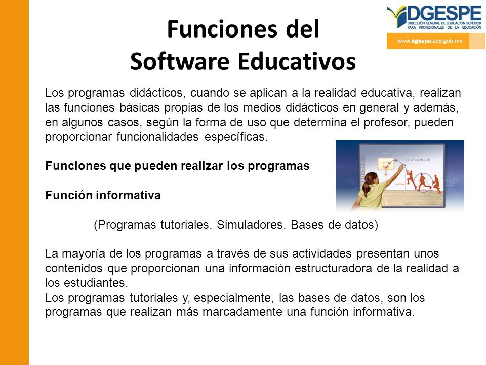Funciones del Software Educativos