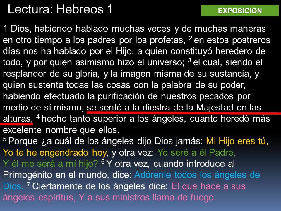Lectura: Hebreos 1 EXPOSICION.