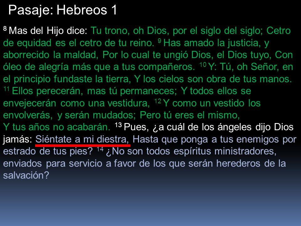 Pasaje: Hebreos 1
