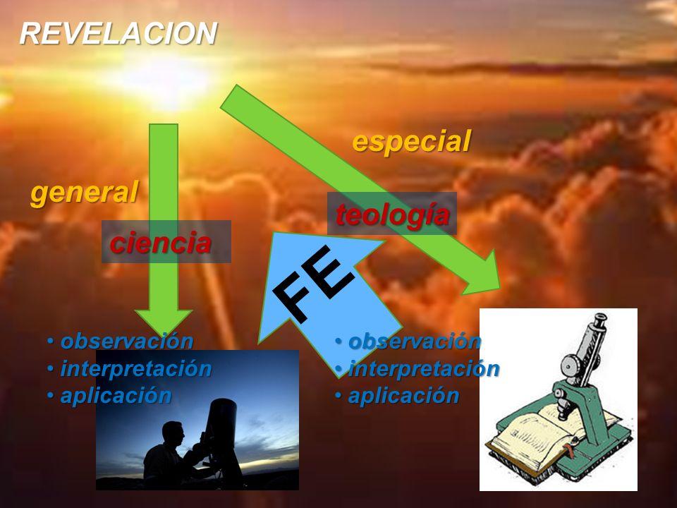 FE REVELACION especial general teología ciencia observación
