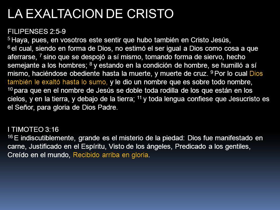 LA EXALTACION DE CRISTO