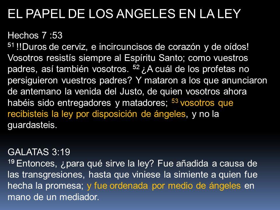 EL PAPEL DE LOS ANGELES EN LA LEY