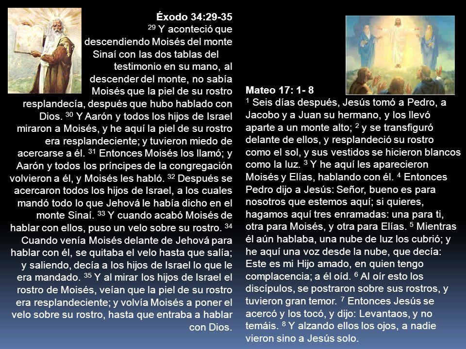 Éxodo 34:29-35