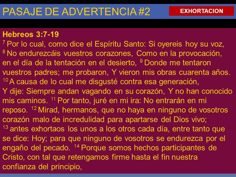 PASAJE DE ADVERTENCIA #2