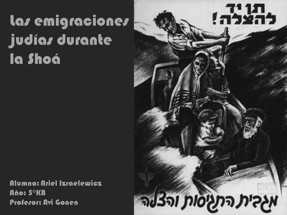 Las emigraciones judías durante la Shoá