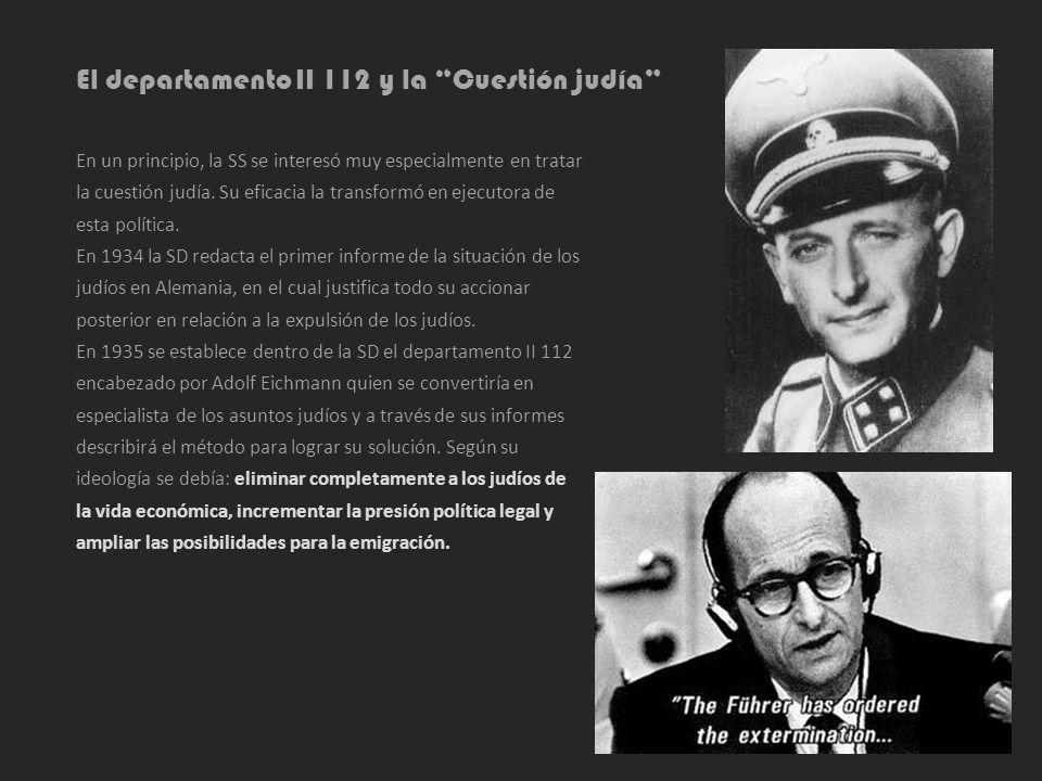 El departamento II 112 y la Cuestión judía