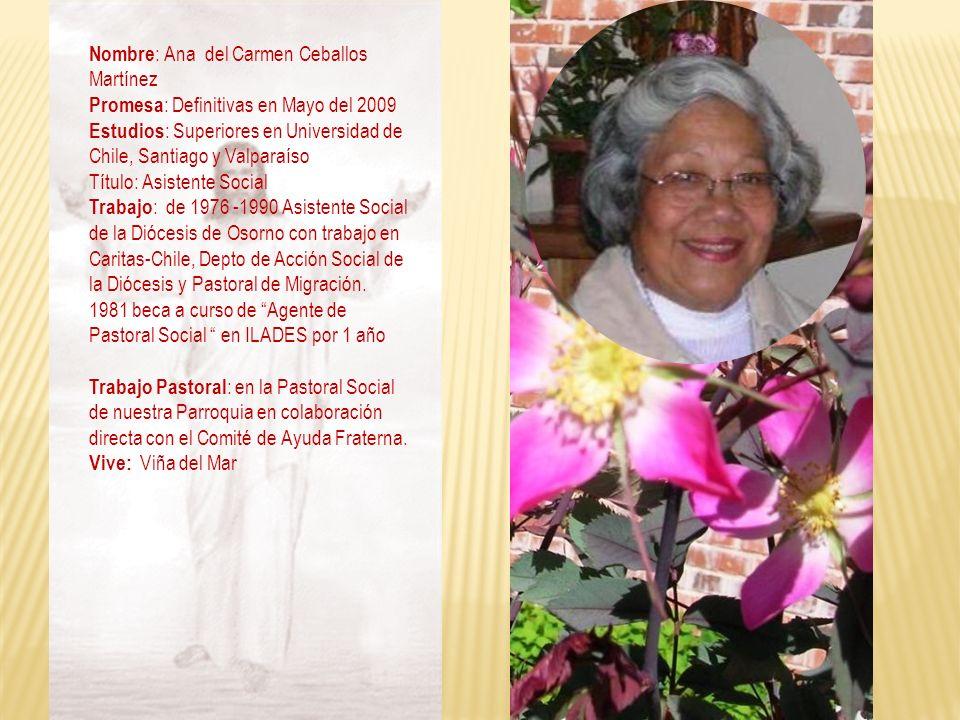 Nombre: Ana del Carmen Ceballos Martínez