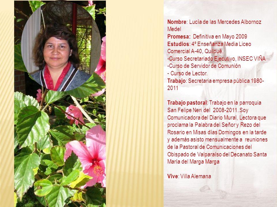 Nombre: Lucía de las Mercedes Albornoz Medel
