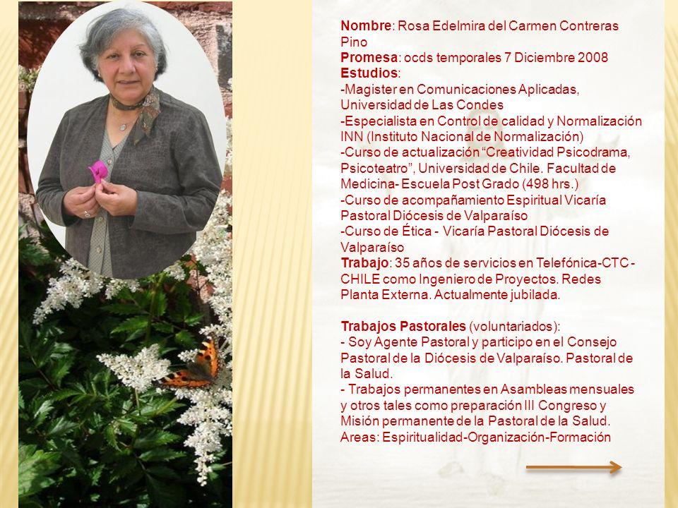 Nombre: Rosa Edelmira del Carmen Contreras Pino