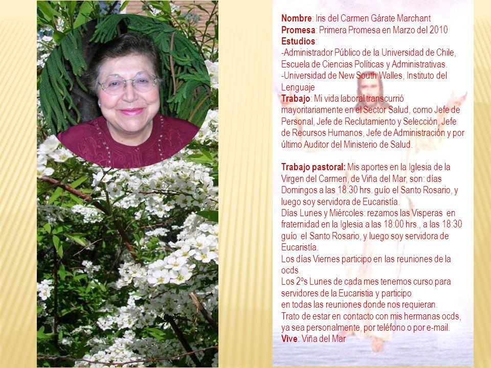Nombre: Iris del Carmen Gárate Marchant