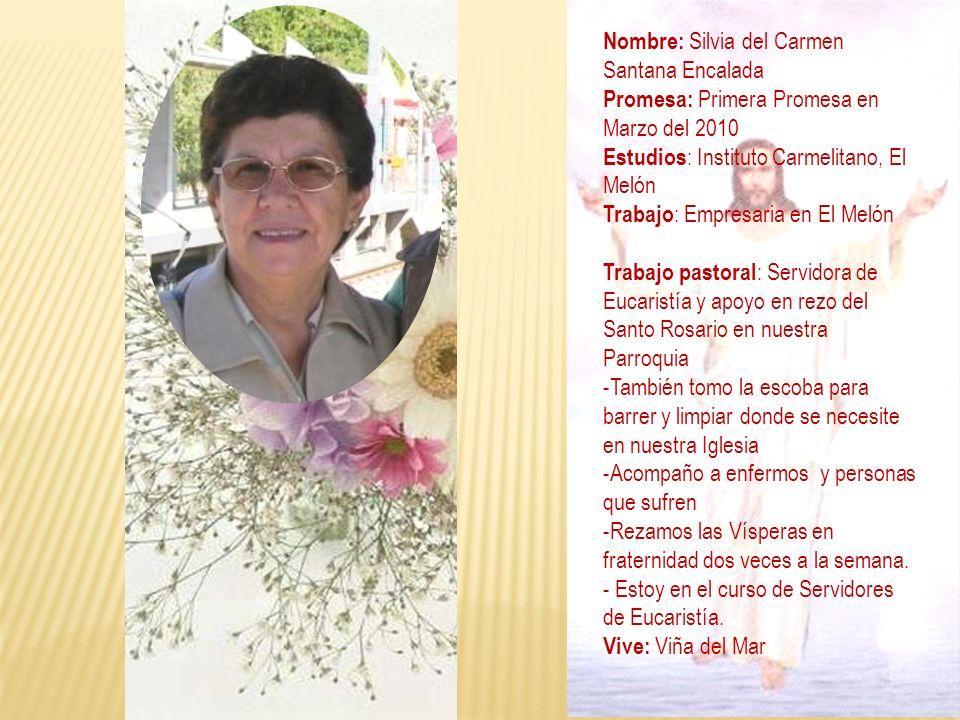 Nombre: Silvia del Carmen Santana Encalada