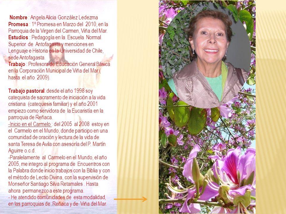 Nombre : Angela Alicia González Ledezma