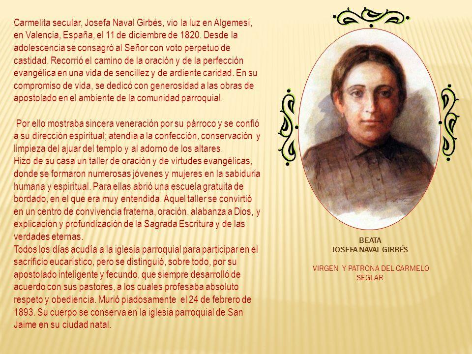 VIRGEN Y PATRONA DEL CARMELO SEGLAR