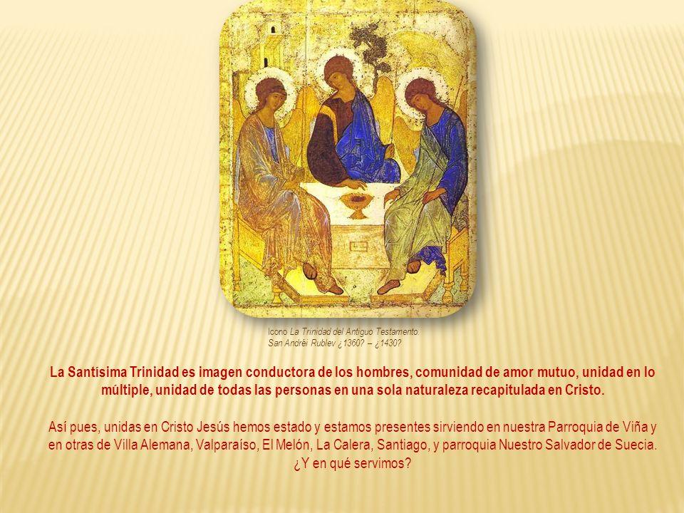 Icono La Trinidad del Antiguo Testamento. San Andréi Rublev ¿1360