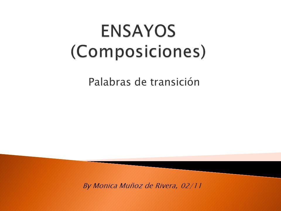 ENSAYOS (Composiciones)