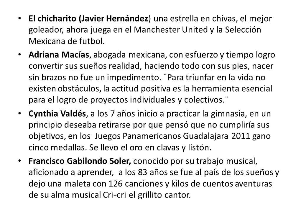 El chicharito (Javier Hernández) una estrella en chivas, el mejor goleador, ahora juega en el Manchester United y la Selección Mexicana de futbol.