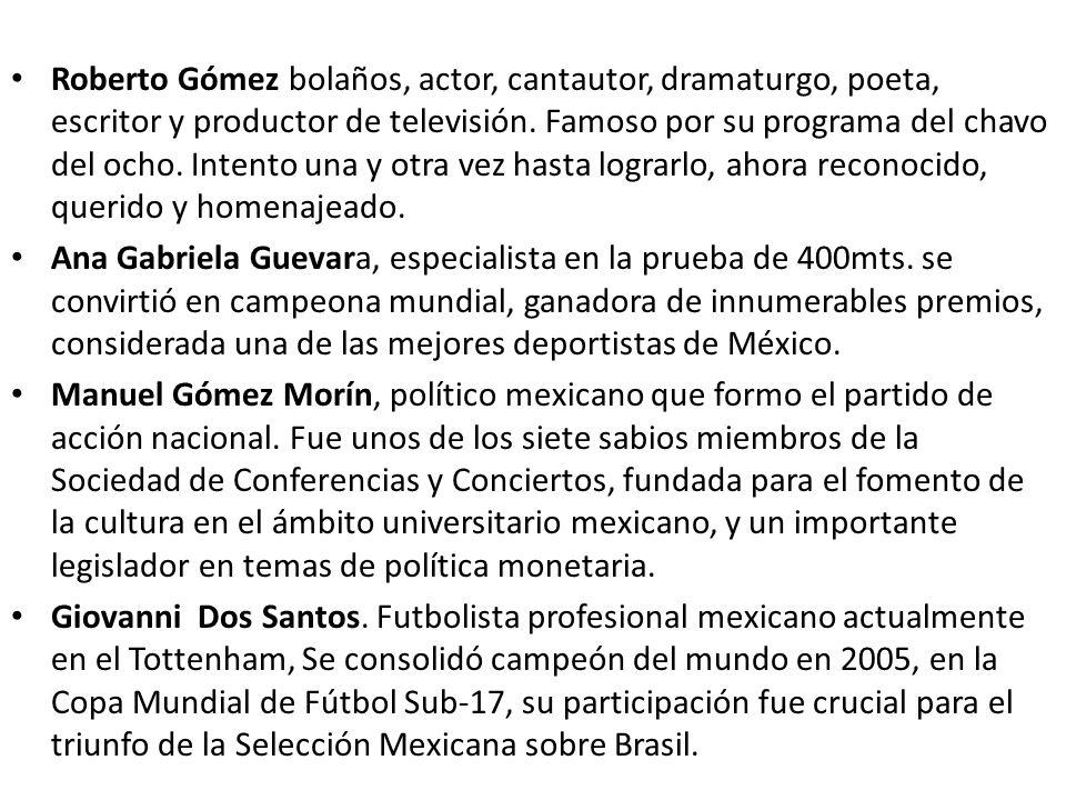 Roberto Gómez bolaños, actor, cantautor, dramaturgo, poeta, escritor y productor de televisión. Famoso por su programa del chavo del ocho. Intento una y otra vez hasta lograrlo, ahora reconocido, querido y homenajeado.