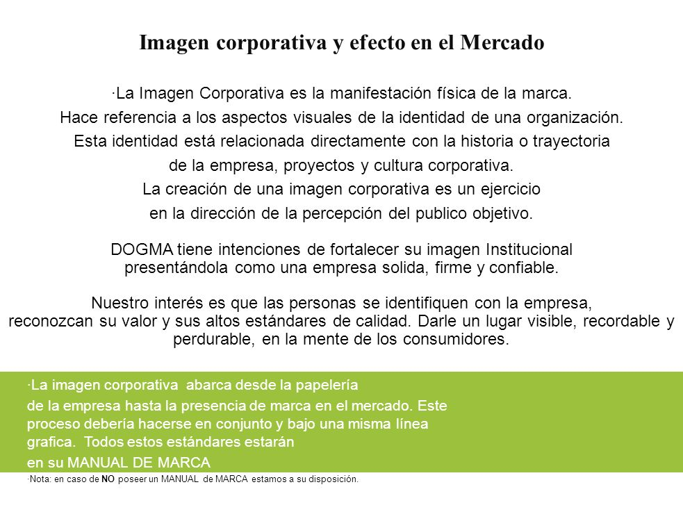 Imagen corporativa y efecto en el Mercado