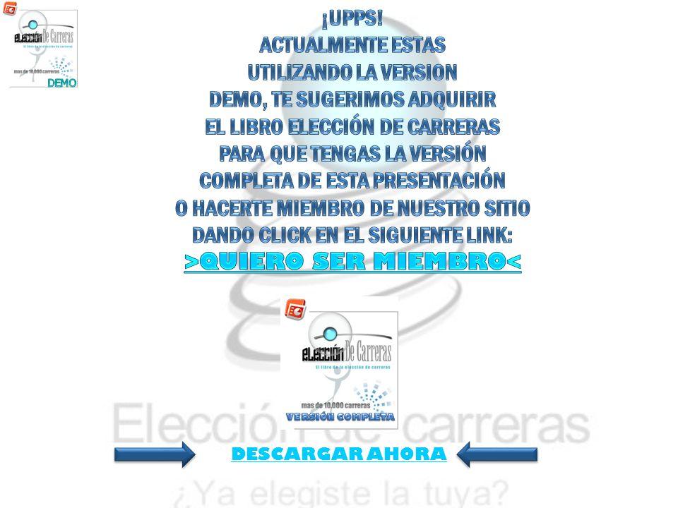 DEMO, TE SUGERIMOS ADQUIRIR EL LIBRO ELECCIÓN DE CARRERAS
