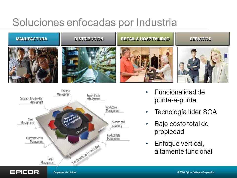 Soluciones enfocadas por Industria