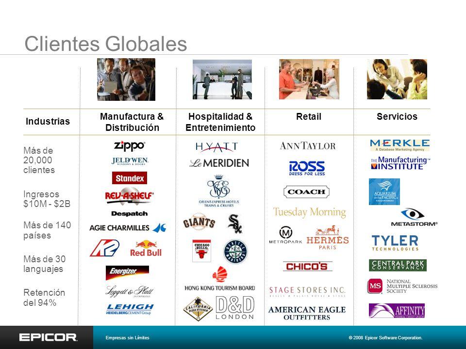 Manufactura & Distribución Hospitalidad & Entretenimiento