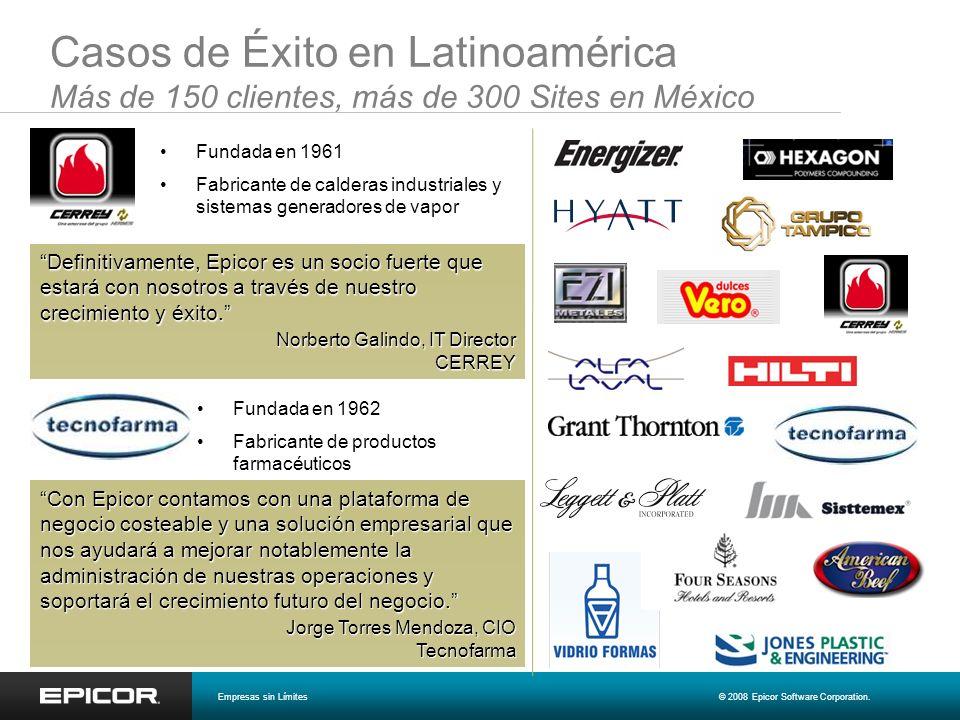 Casos de Éxito en Latinoamérica Más de 150 clientes, más de 300 Sites en México