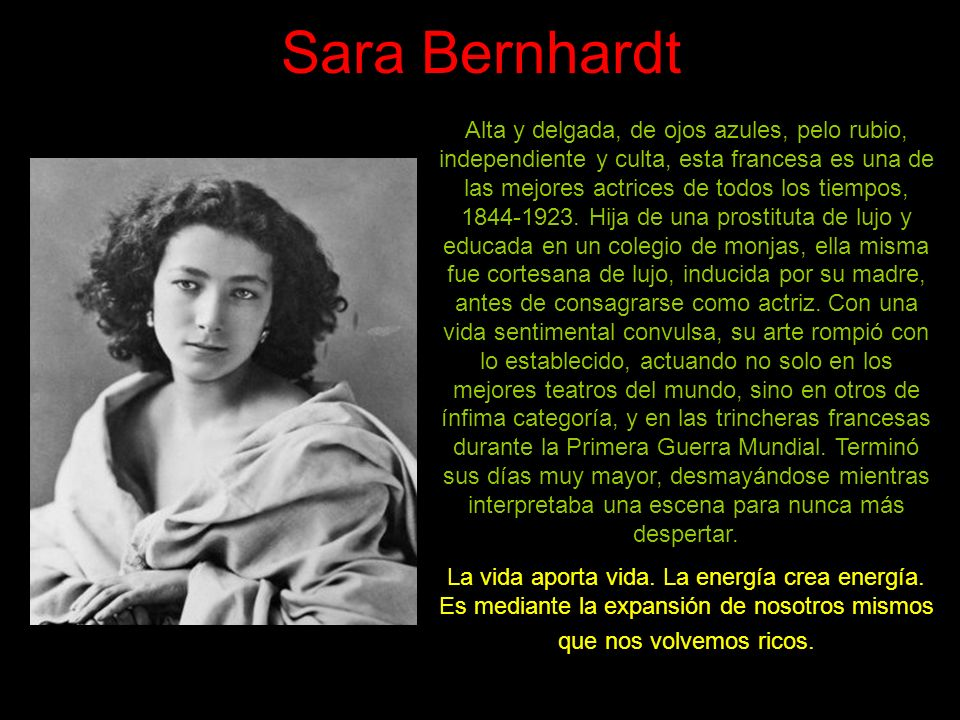 Sara Bernhardt