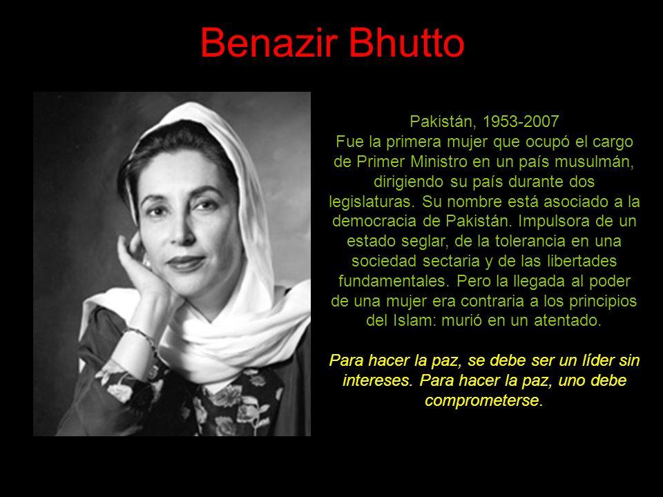 Benazir Bhutto Pakistán, 1953-2007