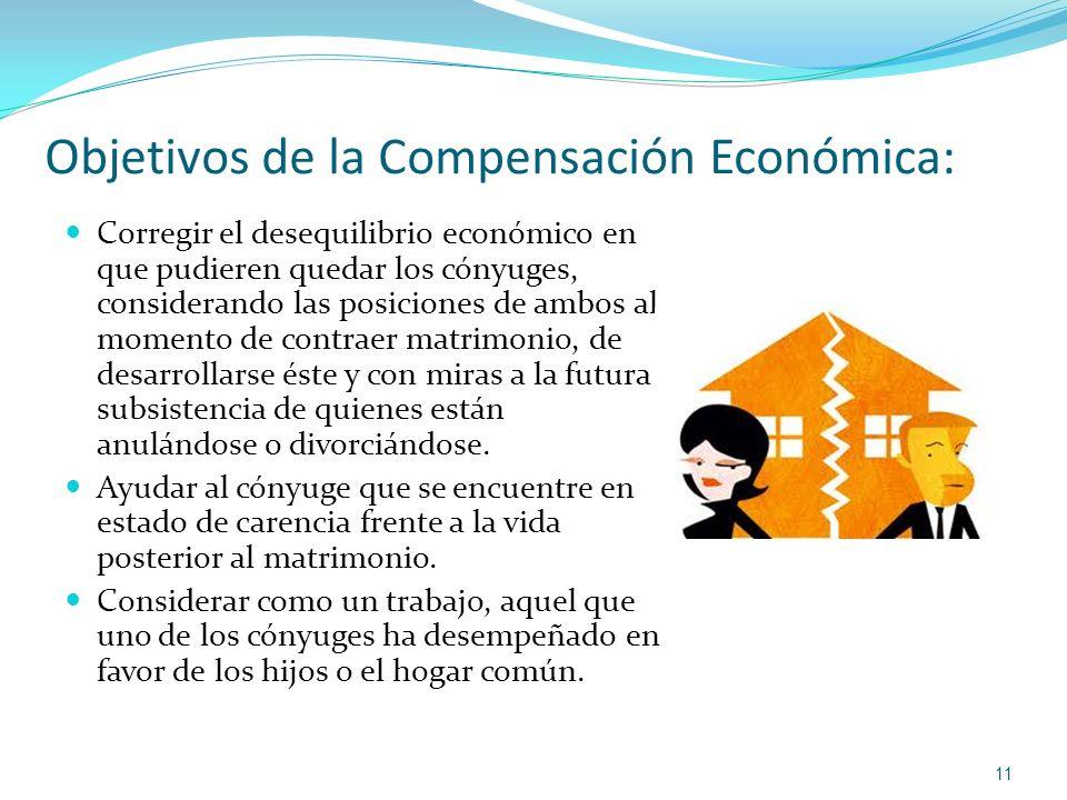 Objetivos de la Compensación Económica: