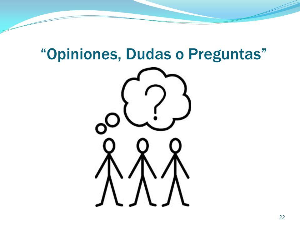 Opiniones, Dudas o Preguntas