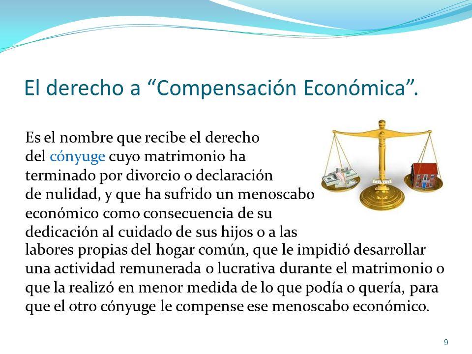 El derecho a Compensación Económica .