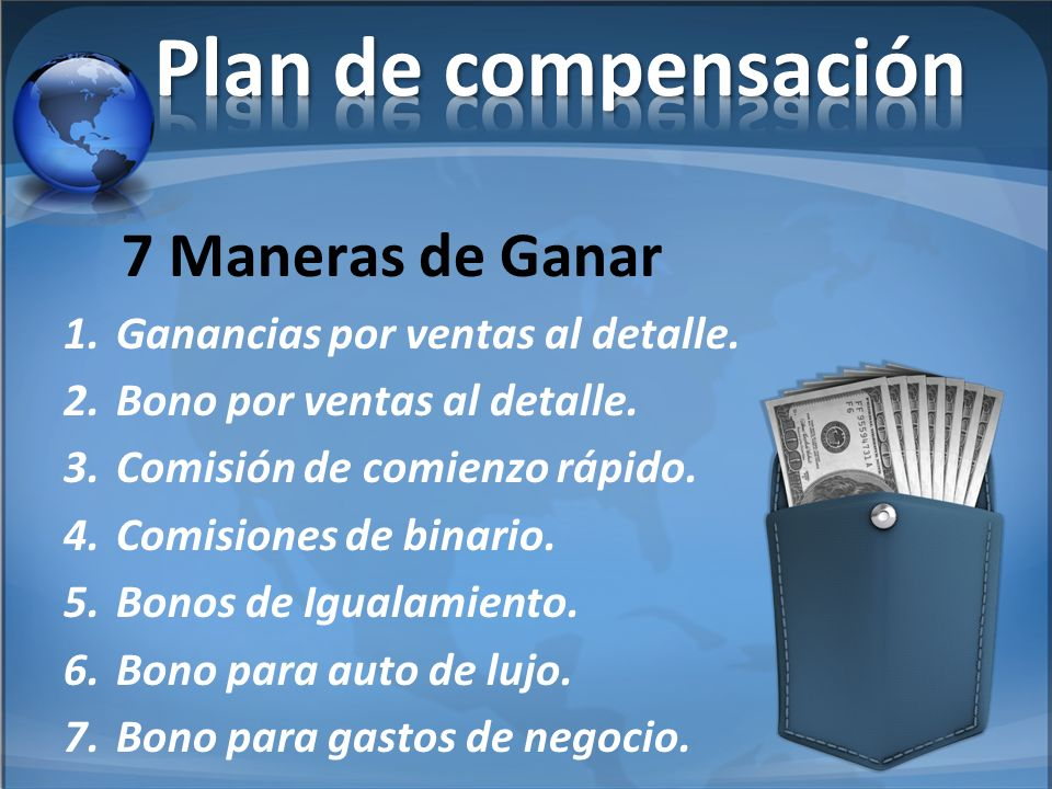 Plan de compensación 7 Maneras de Ganar