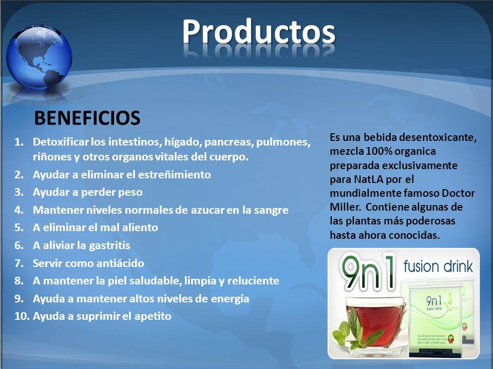 Productos Detoxificar los intestinos, hígado, pancreas, pulmones, riñones y otros organos vitales del cuerpo.