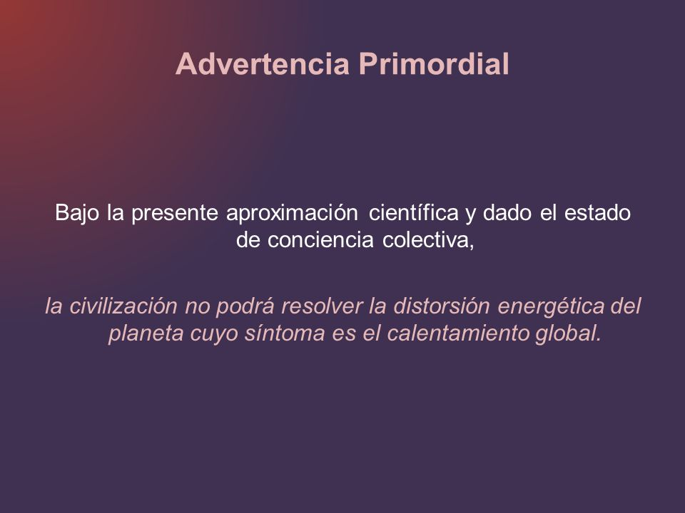 Advertencia Primordial