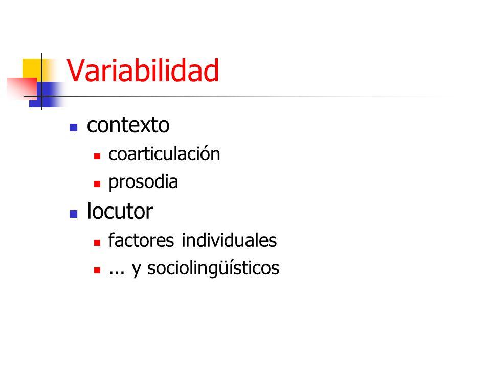Variabilidad contexto locutor coarticulación prosodia