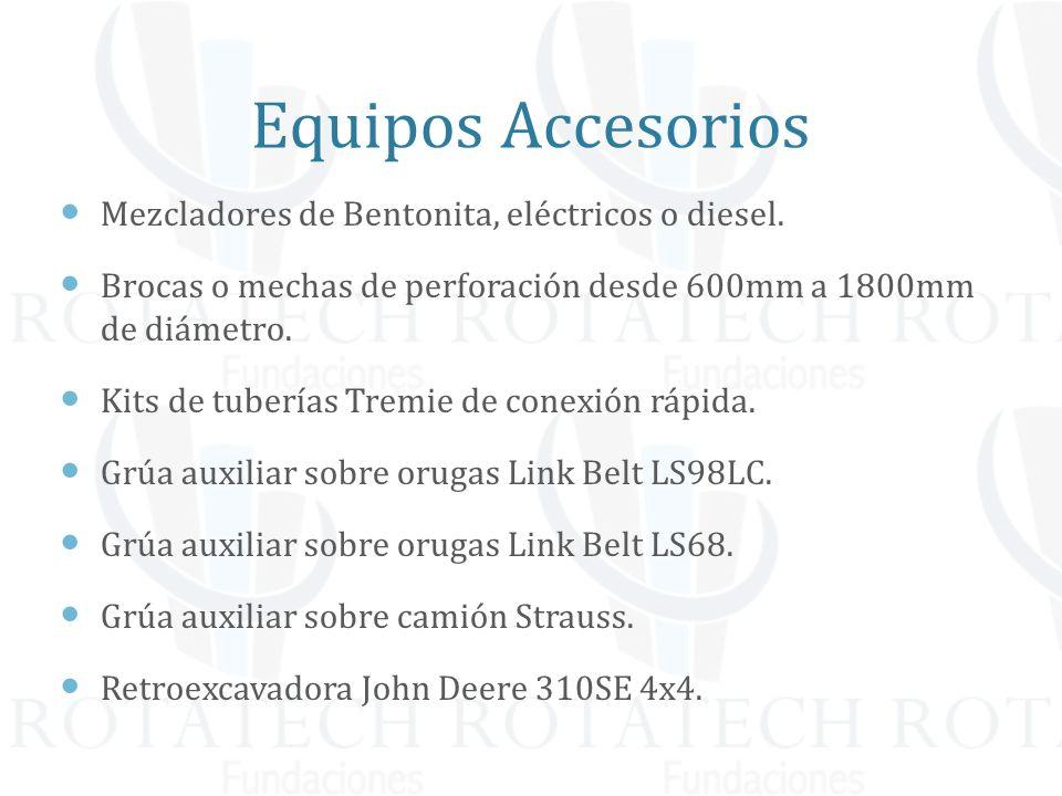 Equipos Accesorios Mezcladores de Bentonita, eléctricos o diesel.