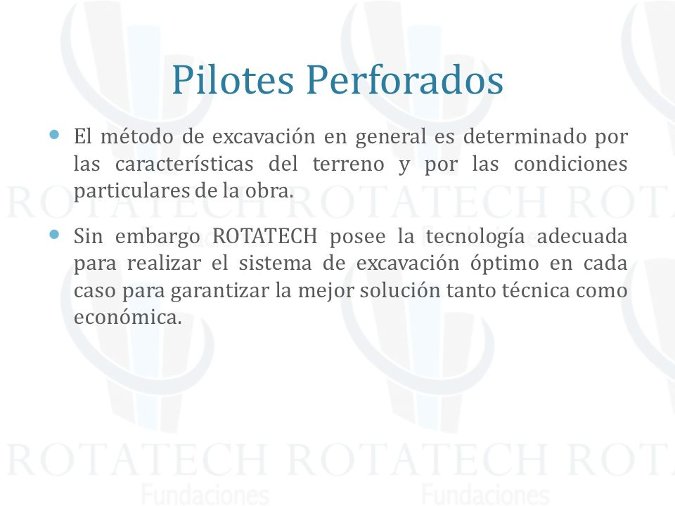 Pilotes Perforados