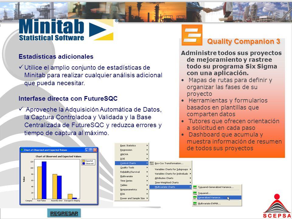 Quality Companion 3 Estadísticas adicionales