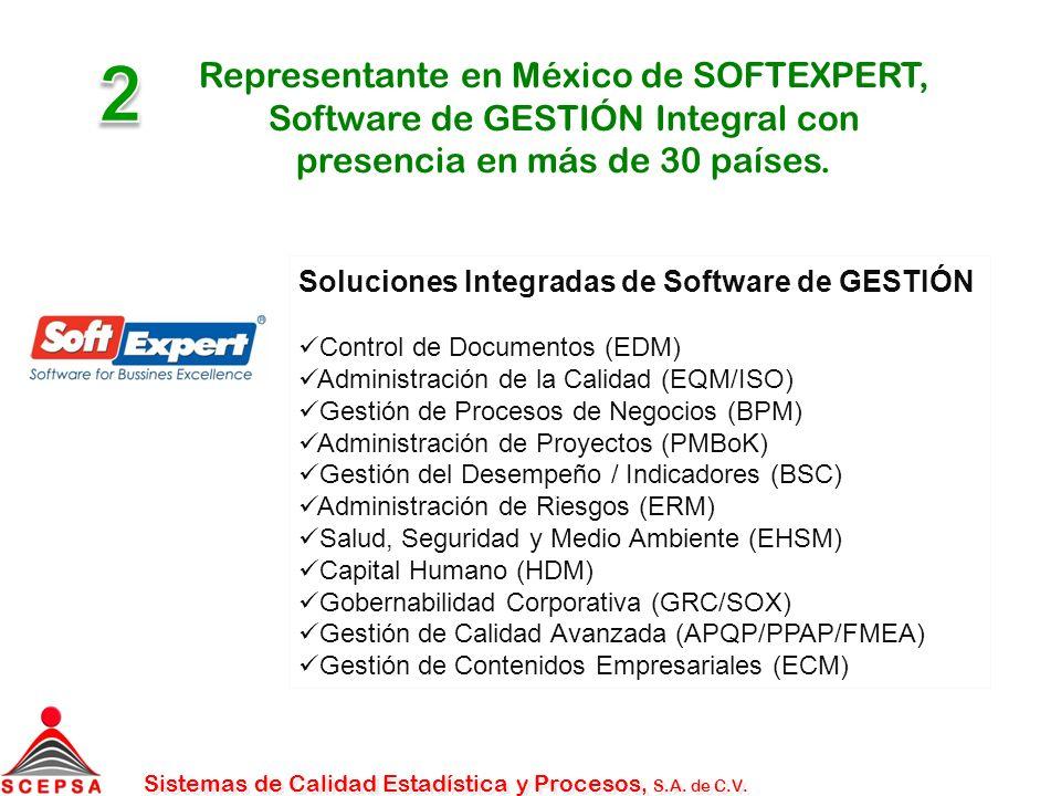 2 Representante en México de SOFTEXPERT, Software de GESTIÓN Integral con presencia en más de 30 países.