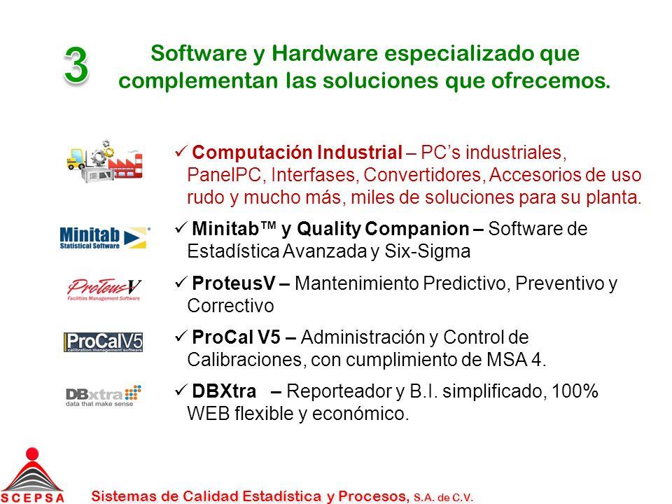 3 Software y Hardware especializado que complementan las soluciones que ofrecemos.
