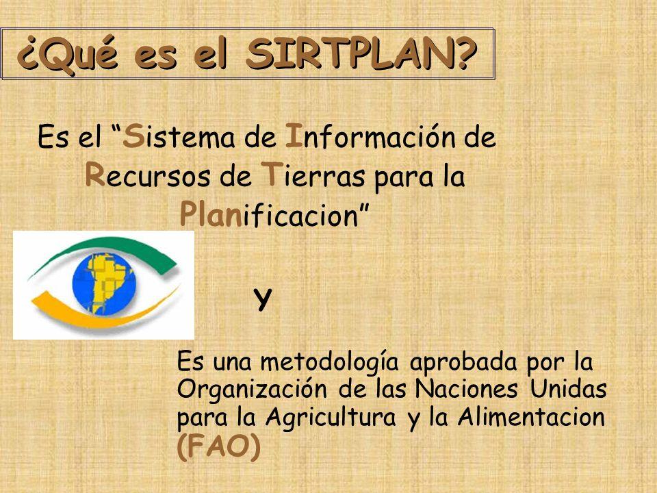 ¿Qué es el SIRTPLAN Es el Sistema de Información de Recursos de Tierras para la Planificacion Y.