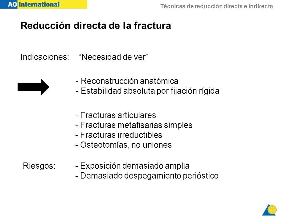 Reducción directa de la fractura