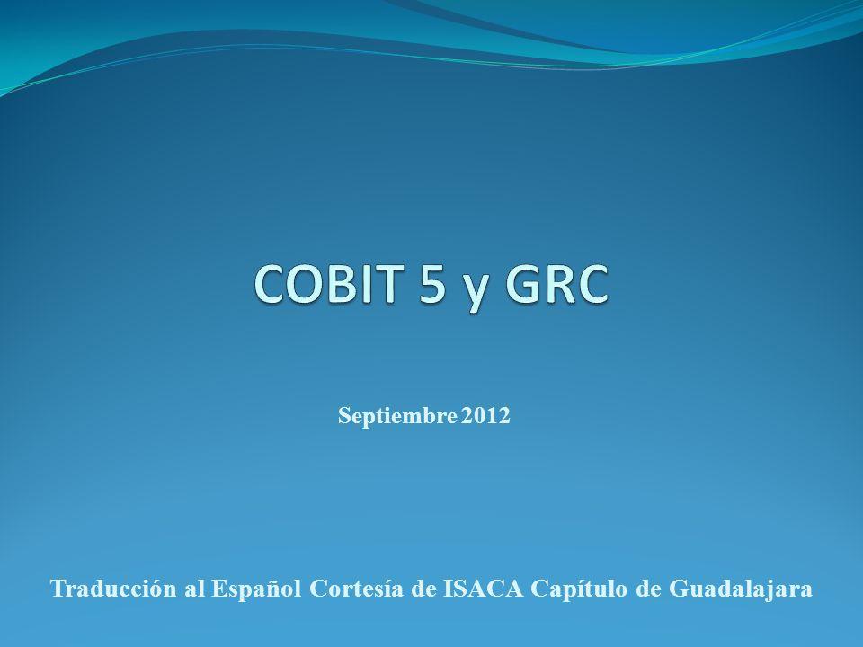 Traducción al Español Cortesía de ISACA Capítulo de Guadalajara