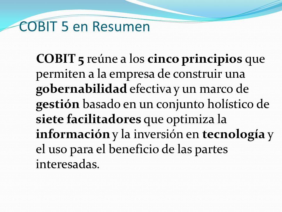 COBIT 5 en Resumen