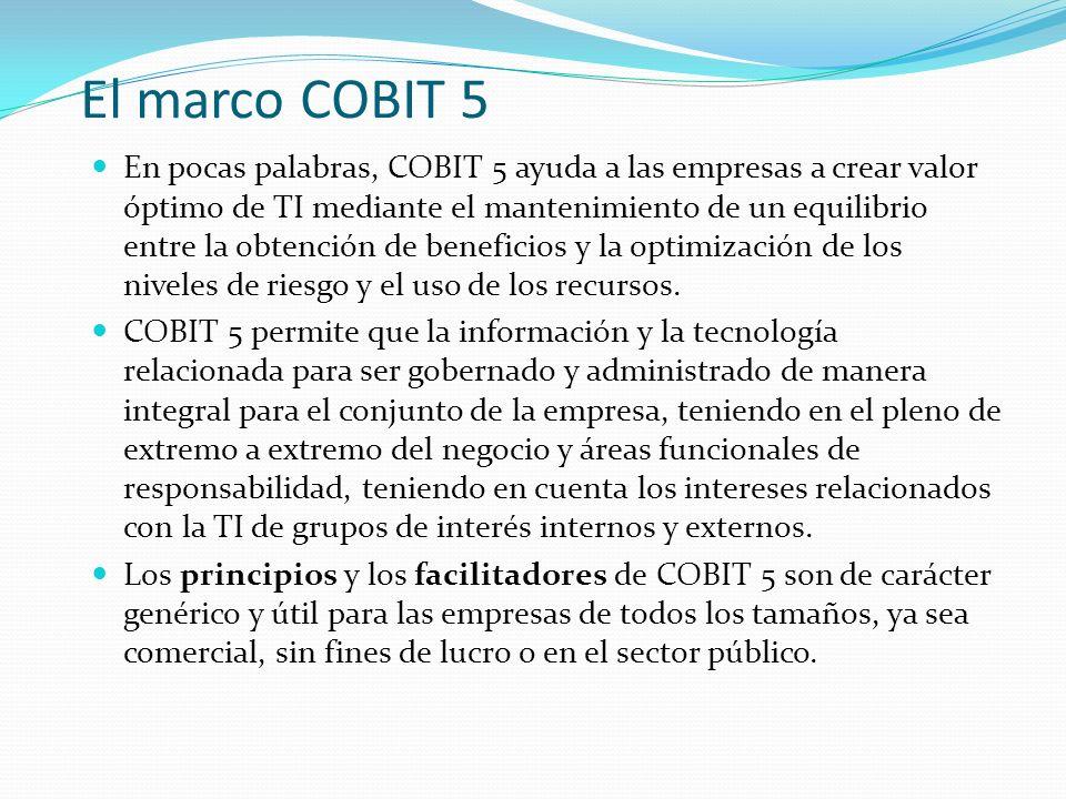 El marco COBIT 5