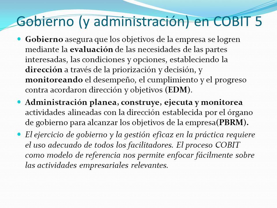 Gobierno (y administración) en COBIT 5