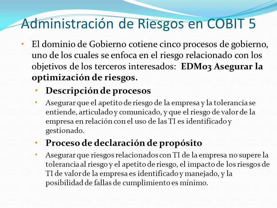 Administración de Riesgos en COBIT 5