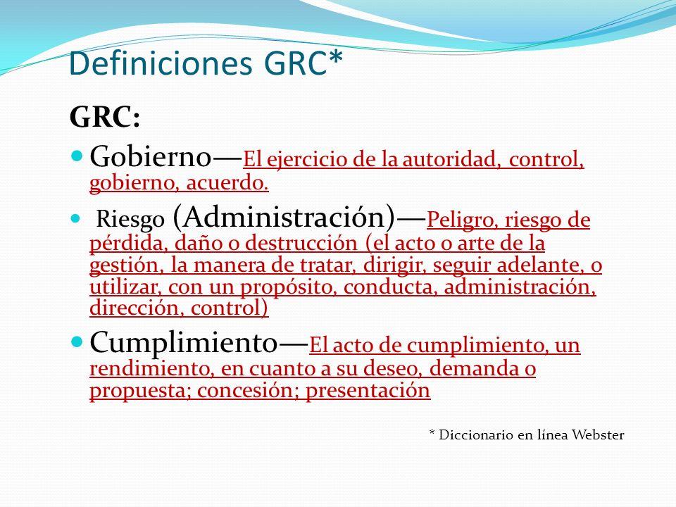 Definiciones GRC* GRC: