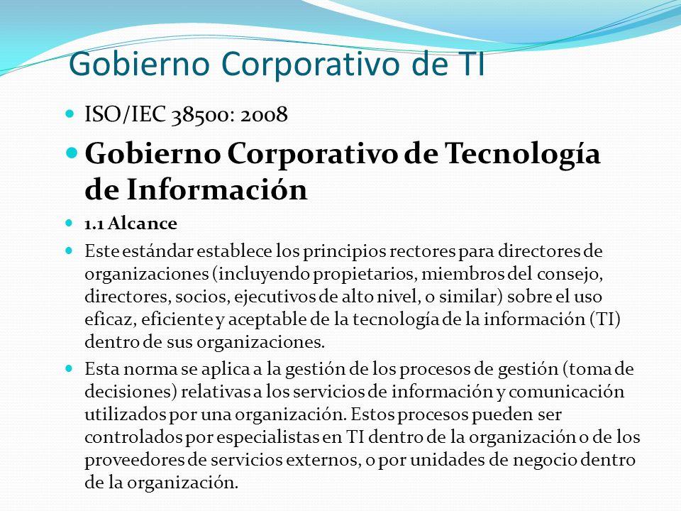 Gobierno Corporativo de TI