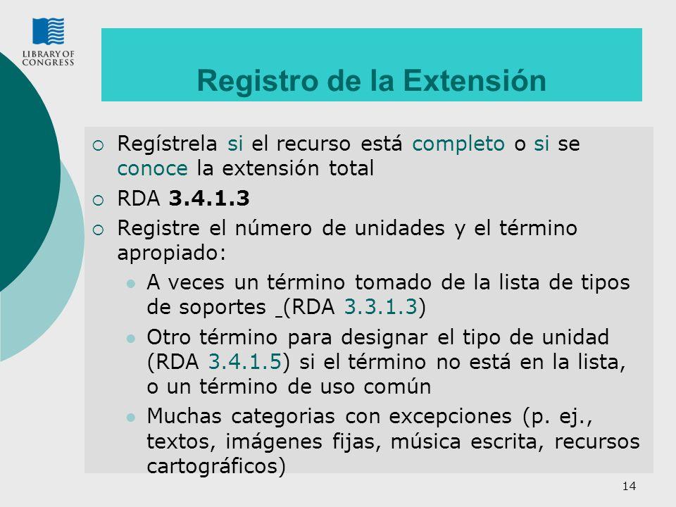 Registro de la Extensión